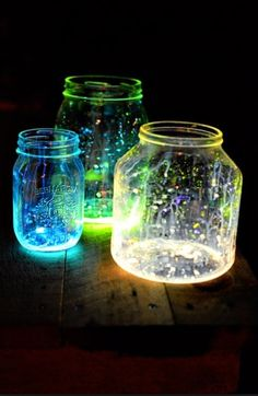 Cool craft: made from broken glow sticks