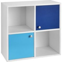 Buy 2 Half Doors Storage Cubes - White and Blue at Argos.co.uk - Your Online Shop for Bookcases and shelving units, Storage units.