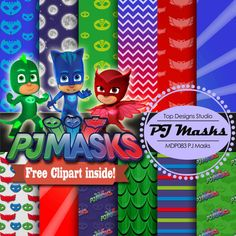 PJ Masks Digital Paper : PJ Masks Digital by Topdesignsstudio