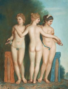 Jean-Étienne Liotard - The three Graces.
