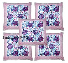 Home & Garden > Home Décor > Pillows Cover New Hand block Print Cushion Cove Throw Pillow Covers, Throw Pillows, Floral Motif, Decoration, Cushions, Quilts, Blanket, Black And White, Fabric