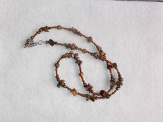 Cool bBrown Necklace by glitterbygrammie on Etsy, $8.00