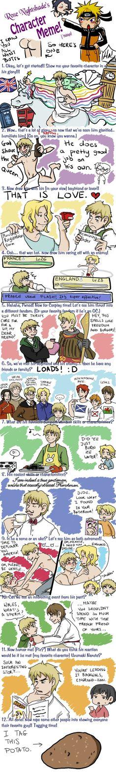 Hetalia: England Character Meme by mayanna