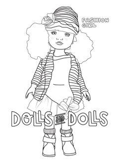 Berjuan Fashion Girl para #colorear #dibujo #berjuan #doll #dolls #muñeca #muñecas