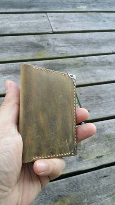 This item is unavailable Distressed Leather, Card Wallet, Leather Wallet, My Etsy Shop, Card Holder, Trending Outfits, Unique Jewelry, Handmade Gifts, Check