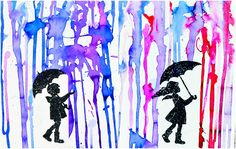 What is the colour of rain? Give these printable art prompts to children along with watercolour paints and find out! A fun rainy day art project for kids.