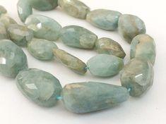 Aquamarine Faceted Tumbles Natural Aquamarine by gemsforjewels