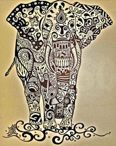 Éléphant graphique