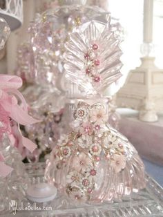 Vintage jeweled perfume bottle by mylulabelles, via Flickr