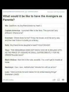 The only reason I am re-pinning is because of Thor. It would be cool if Chris Hemsworth did this with his daughter...