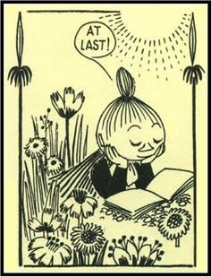 Tove Jansson. Little My's reading hour ;)