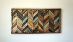Chevron Wood Wall Art by RusticWarmthDecor on Etsy