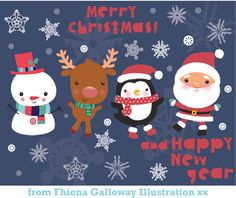 fhiona galloway illustration blog: wishing everyone a happy christmas and even happie...