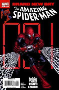 The cover to Amazing Spider-Man #548 (2008), art by Steve McNiven, Dexter Vines, & Morry Hollowell