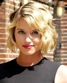 short blonde hairstyles for women 2014 | short wavy haircuts for women blonde fine hair