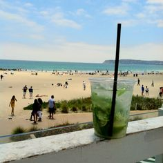 A mojito with a view