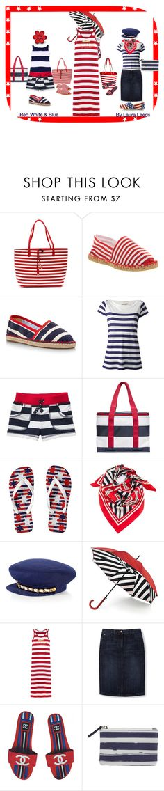"""""""Red White & blue by Laura Leeds"""" by lauraleeds ❤ liked on Polyvore featuring Office, Escadrille, Burberry, Sagaform, Biarritz, Juicy Couture, Lulu Guinness, Boden, Chanel and John Lewis"""