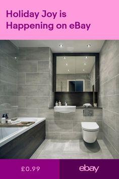 Cut Sample of Indiana Grey Matt Porcelain Wall & Floor Tiles Bathroom Inspiration, Bathroom Makeover, Small Bathroom, Grey Bathroom Tiles, Grey Bathroom Furniture, Wall Tiles Living Room, Bathroom Design, Gray Bathroom Walls, Bathroom Wall Tile