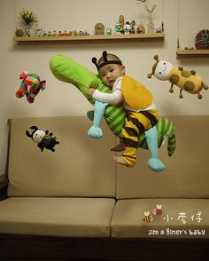 Flying Photography, Mom And Grandma, Baby Photos, Children, Kids, Dinosaur Stuffed Animal, Vibrant Colors, Humor, Learning