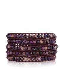 CHAN LUU Purple  Jasper Wrap Bracelet