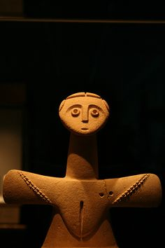 Etruscan Fertility Goddess by jparakilas, via Flickr - looks like the figures from Japan...