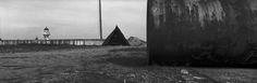 Josef Koudelka - ROMANIA. The Danube delta region. 1994. Xpan. Danube Delta, Magnum Photos, Romania, Sidewalk, Photography, Photograph, Side Walkway, Fotografie, Walkway