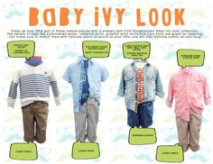 Gingersnaps Infant Boys Collection, Baby Ivy Look