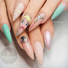 18 Pointy Nails Designs You Can't Resist To Copy ★ Awesome Pointy Nails Arts Inspired by Your Favorite Movies Picture 6 ★ See more: http://glaminati.com/pointy-nails/ #pontynails #pointynaildesigns