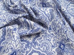 Hamma Linen & Viscose Mix - Blue from The Fabric Godmother