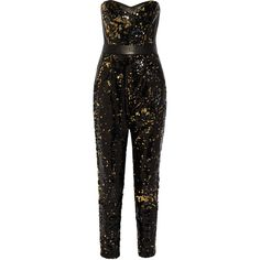 Milly Leather-trimmed sequined tulle jumpsuit ($375) ❤ liked on Polyvore featuring jumpsuits, rompers, playsuit, suits, black jump suit, black romper, black jumpsuit, jumpsuits & rompers e sequin jump suit