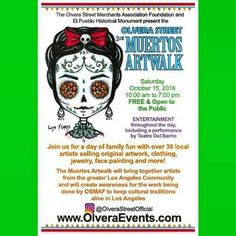 Free Event! LosAngeles Art Walk Tomorrow Saturday October 15th  10am to 7pm  #LosAngeles #FreeEvent #ArtWalk  repost from @ninoskaarte Tomorrow !! Tomorrow !! MUERTOS ARTWALK @ Olvera Street  #olverastreet #plazaolvera #DTLA #placitaolvera #LA #losangeles #fridakahlo #kahlo #diadelosmuertos #dayofthedead #family #arte