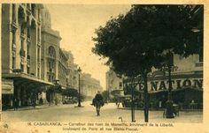 Carrefour des rues de Marseille, bd de la Liberté, bd de Paris et rue Blaise-Pascal #Casablanca #Maroc #Morocco