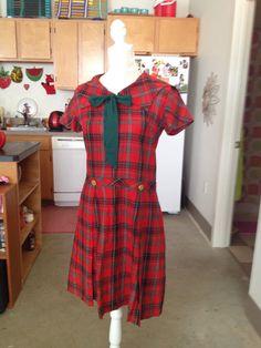 Plaid schoolgirl sailor dress medium by TallulahsJunkTrunk on Etsy https://www.etsy.com/listing/522770486/plaid-schoolgirl-sailor-dress-medium