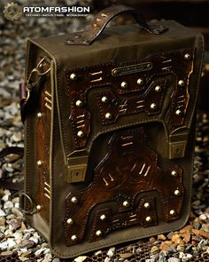 Men's steampunk leather bag 'Stalker' by Atomfashion on Etsy
