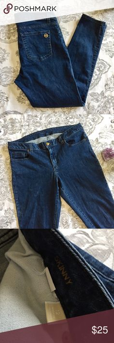 "Michael Kors Dark Wash Skinny Jegging Jeans! Great condition dark wash skinny stretch jeans! Size 12, measurements include: waist-17.5"" across or 35"" around, hip-19.5"" across or 39"" around, rise-10"", Inseam-29""! No stains or other flaws! MICHAEL Michael Kors Jeans Skinny"