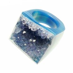 Agate Ring Blue now featured on Fab.