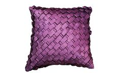 The 'Ribbon' cushion in violet is part of Jimmy's brand new Regency bed linen collection.