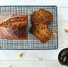 Filled with sweet dates and crunchy walnuts, this loaf is the perfect breakfast accompaniment. Date And Walnut Loaf, Different Fruits, Perfect Breakfast, Quick Bread, Baking Recipes, Baking Soda, Dates, Vegetarian, Homemade
