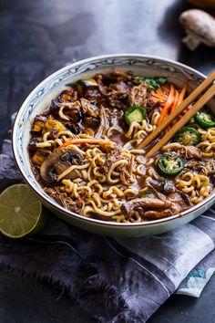 Crockpot Crispy Caramelized Pork Ramen Noodle Soup