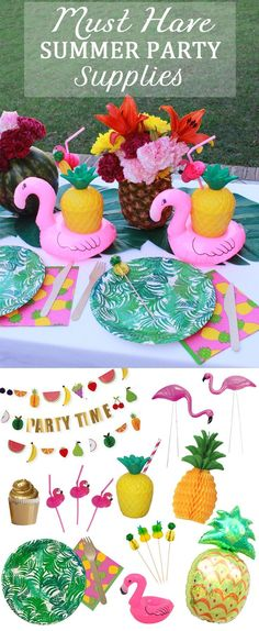 Must have Flamingo and Pineapple Party Supplies for a fabulous Summer Party!!
