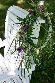 * couronne de fleurs