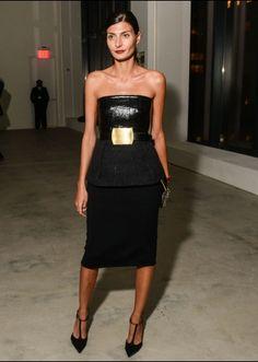 Giovannie Battaglia in Calvin Klein Collection F13 at Calvin Klein S14 show after-party