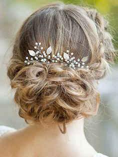 Bridalvenus Silver Bridal Hair Pins Set, Wedding Leaf Hair Pin for Women and Girls (Set of 2)  ASH AMAZON