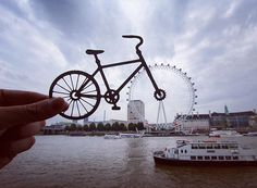 Pin for Later: Using Just Paper, This Instagram Account Will Show You a Whole New World London Eye