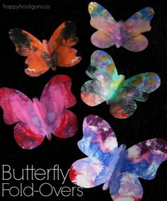 Symmetrical Butterfly Craft by Happy Hooligans