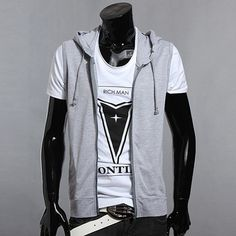 Hot Sell New 2015 Summer Mens Slim Fit Hooded Sweatshirt Casual Sleeveless Jacket Outdoors Sports Vest Outwear Size S-XL|3f7e7c21-ef21-4b07-930e-82aa1d93e85d|Vests & Waistcoats