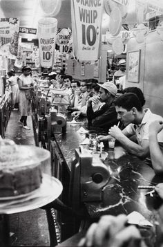 Drug store – Detroit, 1955, copyright Robert Frank from The Americans