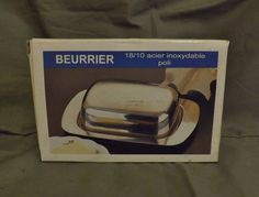 beurrier stainless steele butter dish