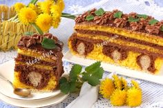 "Пісний пляцок ""Кульбабка"" Russian Desserts, Russian Recipes, Hungarian Cake, Vegan Recipes, Cooking Recipes, Traditional Cakes, Sweet Pastries, Diy Cake, Beautiful Cakes"
