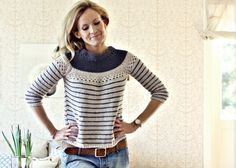 From Kalastajan vaimo- blog. Adorable knit/crochet shirt of cotton yarn. Must do for breezy summer/spring days!